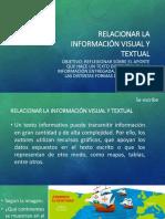 Relacionar información visual y textual