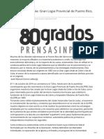 80grados.net-Hacia la autonomía Gran Logia Provincial de Puerto Rico 1884-85