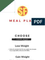 Superfit Nutrition Plan