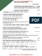 CBSE Class 10 Maths Worksheet - Statistics (6)