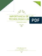 IMPORTANCIA DE LAS TECNOLOGÍAS LIMPIAS.docx