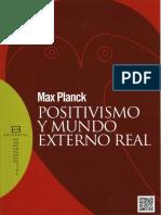 Planck Max Positivismo y Mundo Externo r