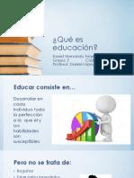 Qué Es Educación