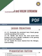 Module 1-Terrorism and Violent Extremism Part 1