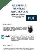 Anestesia General Endovenosa 1