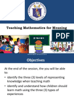 Teaching Math in meaning