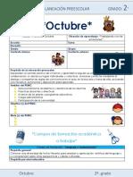 Plan preescolar Octubre