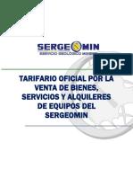 Propuesta de Tarifario Servicios Sergiomin.