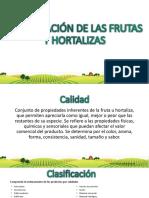 1.Clasificación de Las Frutas y Verduras