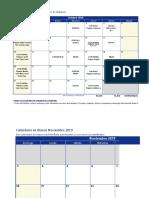 Cronograma de Actividades Oct, Nov, Dic 2019