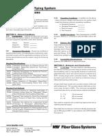 Smith Fibercast Green Thread Fiberglass Pipe Piping General Specifications