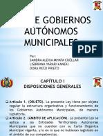 presentación de ley de autonomías municipales en Bolivia
