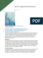 Las Diferencias Entre Las Organizaciones Horizontal y Vertical