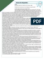 evaluación diagnóstica de español