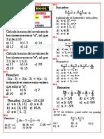 ficha de ejercicios de algebra N°07 1° y 2° de secundaria