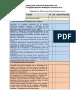 Lista de Cotejo Diagnóstico PEMC