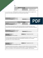 Formatos, reportes de fallas en sistemas neumaticos