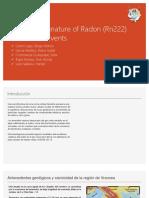 Presignal Signature of Radon (Rn222)