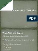 Anthropometry the Basics