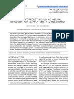 Demand Forecasting Using Neural