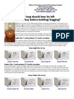 How Long Should Beer Be Left in Carboy