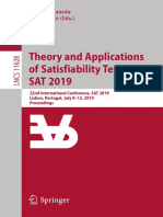 (Lecture Notes in Computer Science 11628) Mikoláš Janota, Inês Lynce - Theory and Applications of Satisfiability Testing – SAT 2019_ 22nd International Conference, SAT 2019, Lisbon, Portugal, July 9–1