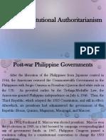 Ppt for 1973 Constitutional Authoritarianism