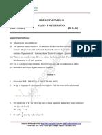 10 Mathematics Sample Paper 04