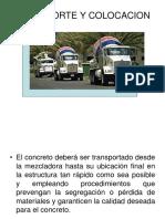 transporte y colocación del concreto