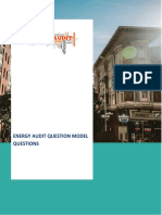 Energy Audit Questions Paper for BEE