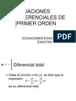 Ecuaciones Exactas y No Exactas