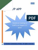 Manual on BLO-EVP App