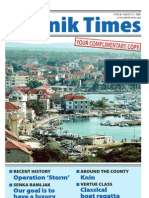 The Sibenik Times, August 2nd 2008.