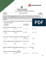 Enunciado Matemática 1ªÉp. 12ªclas 2013