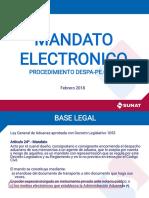 Mandato Electrónico - 02FEB2018