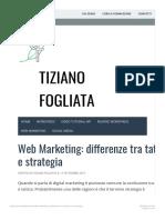 Web Marketing_ Differenze Tra Tattica e Strategia