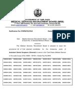 Asst Dental Surgeon Selectionlist