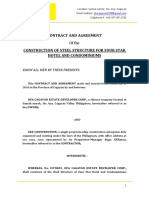 Sample of Contract and Agreement