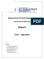 Report on Aggregates