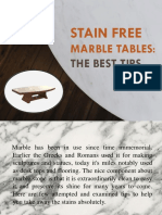 Stain Free Marble Tables