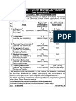 Notification IIT Bombay Jr. Engineer Asst Other Posts