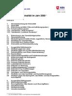 Polizeiliche Kriminalstatistik 2009 Osnabrück. pks09