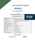 Supplier Assessment Report- Ltd.