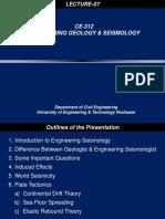7.Engineering Seismology, Plate Tectonics-1