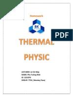 Homework Thermal Physic