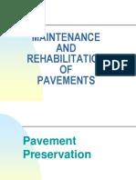 13. Maintenance and Rehabilitation of Pavements =