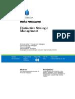 Modul MIchael Potter Five Generic Strategy