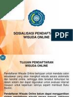 Sosialisasi Pendaftaran Wisuda Online