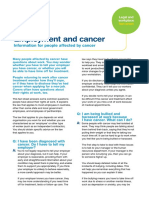Employment and Cancer NSW