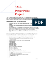 PPT Project All About Me